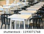 huge cafeteria  restaurant ...   Shutterstock . vector #1193071768