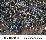 group of steel scrap on steel... | Shutterstock . vector #1193073922
