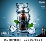 frozen body wash in ice cubes... | Shutterstock .eps vector #1193075815