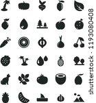 solid black flat icon set drop... | Shutterstock .eps vector #1193080408