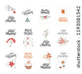 collection cute merry christmas ... | Shutterstock .eps vector #1193081542