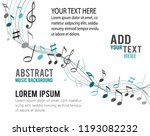 color music notes on a solide... | Shutterstock .eps vector #1193082232