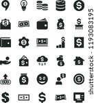 solid black flat icon set purse ... | Shutterstock .eps vector #1193083195