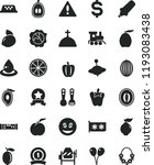 solid black flat icon set... | Shutterstock .eps vector #1193083438