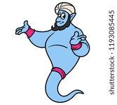 cartoon genie vector | Shutterstock .eps vector #1193085445