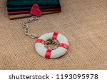 little books attached to a life ... | Shutterstock . vector #1193095978