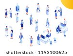 isomeric office people vector... | Shutterstock .eps vector #1193100625