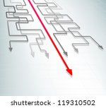 concept of  moving straight...   Shutterstock .eps vector #119310502