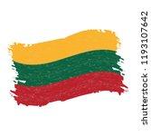 flag of lithuania  grunge...   Shutterstock .eps vector #1193107642