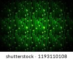 abstract green matrix symbols ... | Shutterstock .eps vector #1193110108