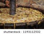 grape harvest  close up of... | Shutterstock . vector #1193112532