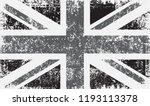 grunge uk flag.vector british... | Shutterstock .eps vector #1193113378