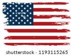 old american flag.vector grunge ... | Shutterstock .eps vector #1193115265