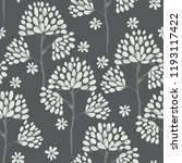 floral seamless pattern with... | Shutterstock .eps vector #1193117422