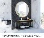 side view of white marble and...   Shutterstock . vector #1193117428