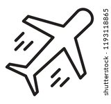 icon with an aircraft having... | Shutterstock .eps vector #1193118865
