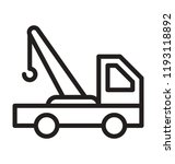 a tow truck indicating towing... | Shutterstock .eps vector #1193118892