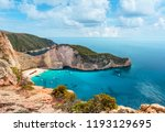 mid day photo of shipwreck... | Shutterstock . vector #1193129695