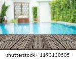 empty wooden table in front... | Shutterstock . vector #1193130505