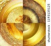 abstract golden circles... | Shutterstock . vector #1193135125