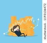 business man sleep near graph... | Shutterstock .eps vector #1193136472