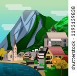 vector illustration of salzburg ... | Shutterstock .eps vector #1193139838