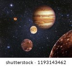 planet jupiter and his... | Shutterstock . vector #1193143462