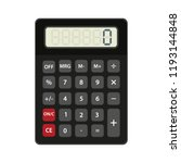 calculator icon in flat style... | Shutterstock .eps vector #1193144848
