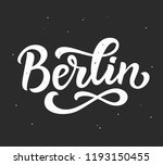 berlin hand written lettering.... | Shutterstock .eps vector #1193150455
