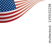 usa flag  vector illustration... | Shutterstock .eps vector #1193152258