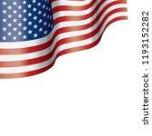 usa flag  vector illustration... | Shutterstock .eps vector #1193152282