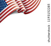 usa flag  vector illustration... | Shutterstock .eps vector #1193152285