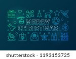 merry christmas colored thin... | Shutterstock .eps vector #1193153725