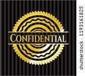 confidential gold emblem | Shutterstock .eps vector #1193161825