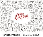 merry christmas design elements ... | Shutterstock .eps vector #1193171365