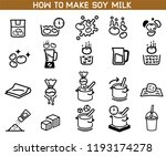 how to made soybean milk icon.... | Shutterstock .eps vector #1193174278