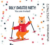 ugly sweater party design   cad ... | Shutterstock .eps vector #1193179672