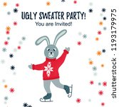 ugly sweater party design   cad ... | Shutterstock .eps vector #1193179975