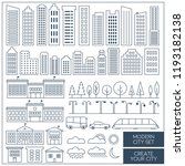 thin lines city elements set....   Shutterstock .eps vector #1193182138