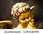 cherub on dark sky   tilt shift ... | Shutterstock . vector #119318398