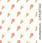 seamless pattern with ice cream ... | Shutterstock .eps vector #1193187262