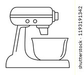 machine mixer icon. outline... | Shutterstock .eps vector #1193191342