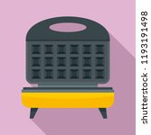 waffle cooker icon. flat... | Shutterstock .eps vector #1193191498