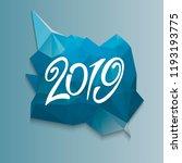 2019 happy new year  present... | Shutterstock .eps vector #1193193775