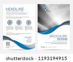 brochure template flyer design... | Shutterstock .eps vector #1193194915