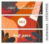 autumn sale banner design.... | Shutterstock .eps vector #1193195935