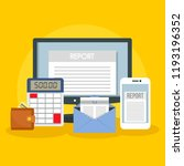 tax report concept background.... | Shutterstock .eps vector #1193196352