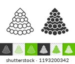christmas tree black linear and ... | Shutterstock .eps vector #1193200342