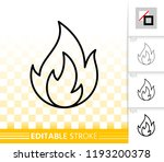 fire thin line icon. outline... | Shutterstock .eps vector #1193200378