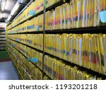 document control room in... | Shutterstock . vector #1193201218